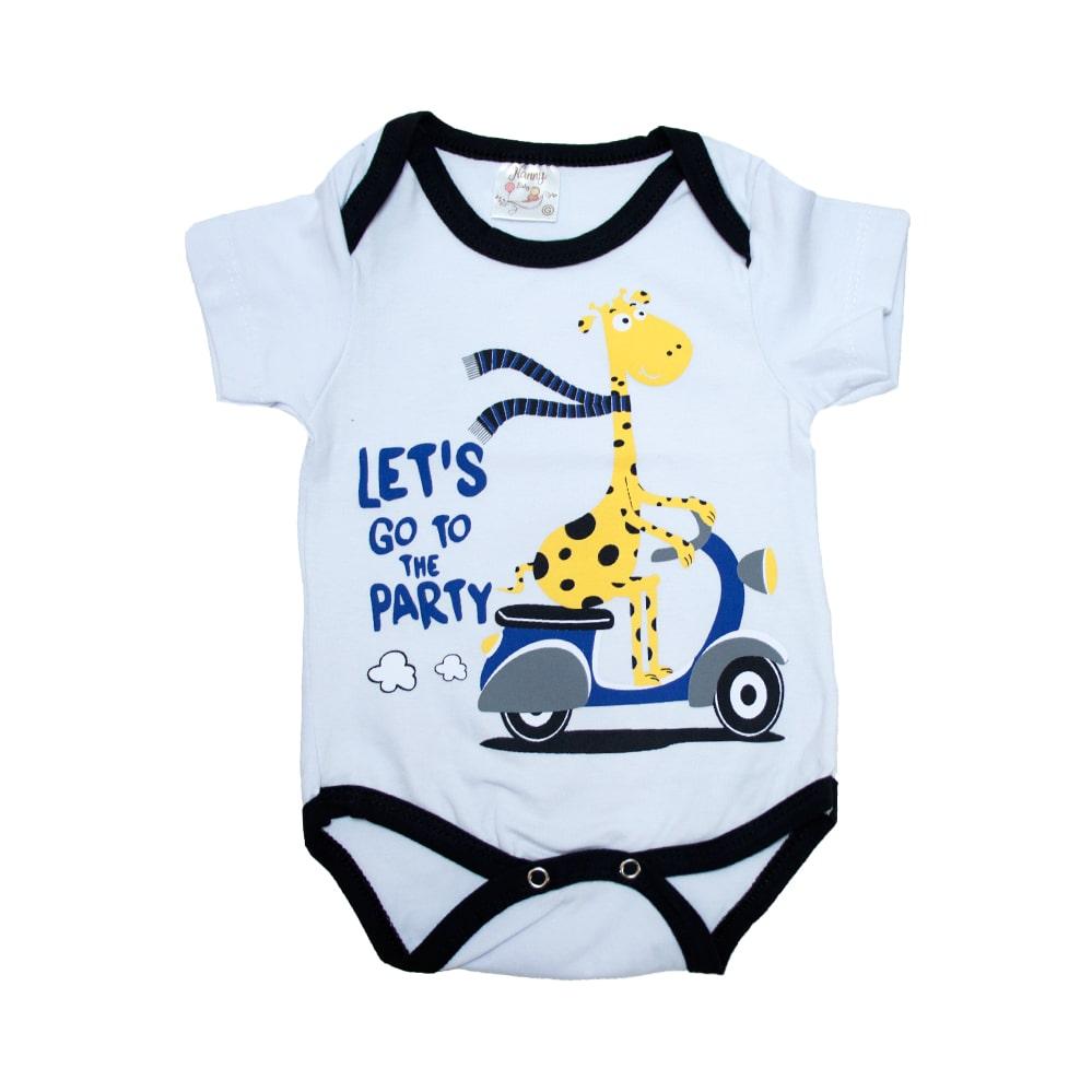 Body Bebê Girafa Branco  - Jeito Infantil