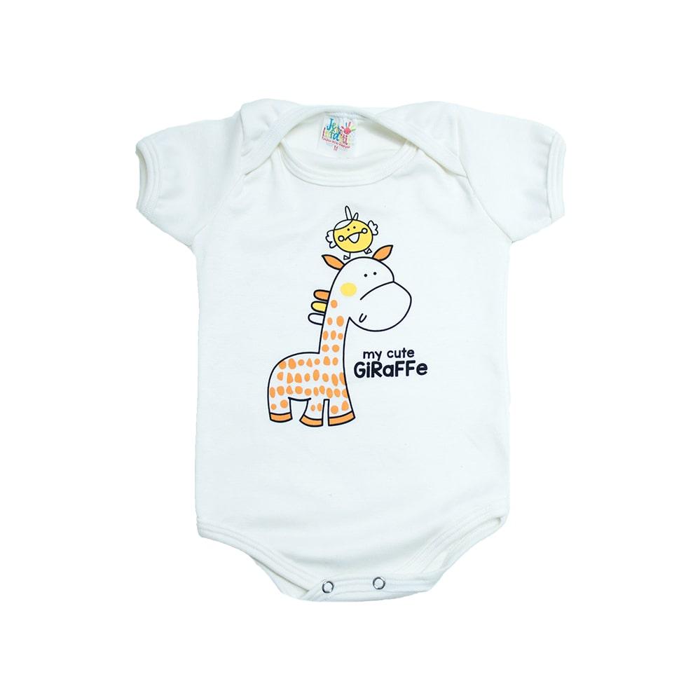 Body Bebê Girafa e Passarinho Pérola  - Jeito Infantil