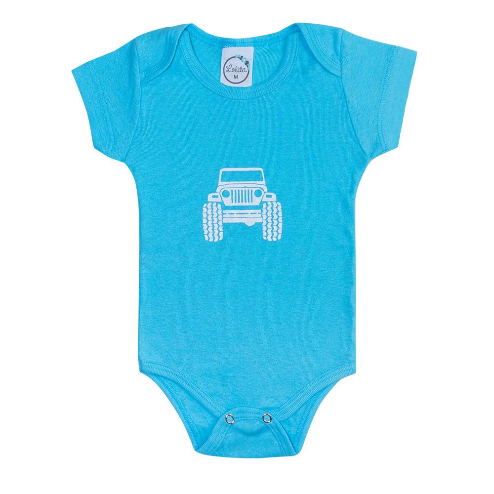 Body Bebê Jeep Azul  - Jeito Infantil