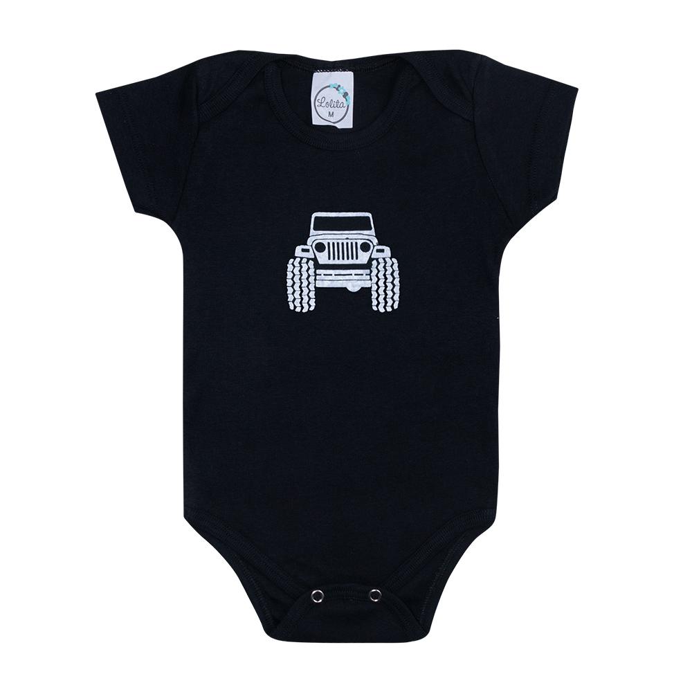 Body Bebê Jeep Preto  - Jeito Infantil