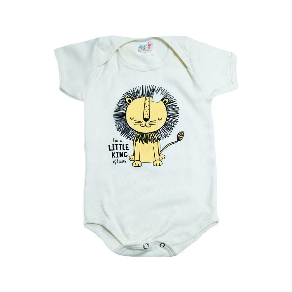 Body Bebê Leãozinho Pérola  - Jeito Infantil