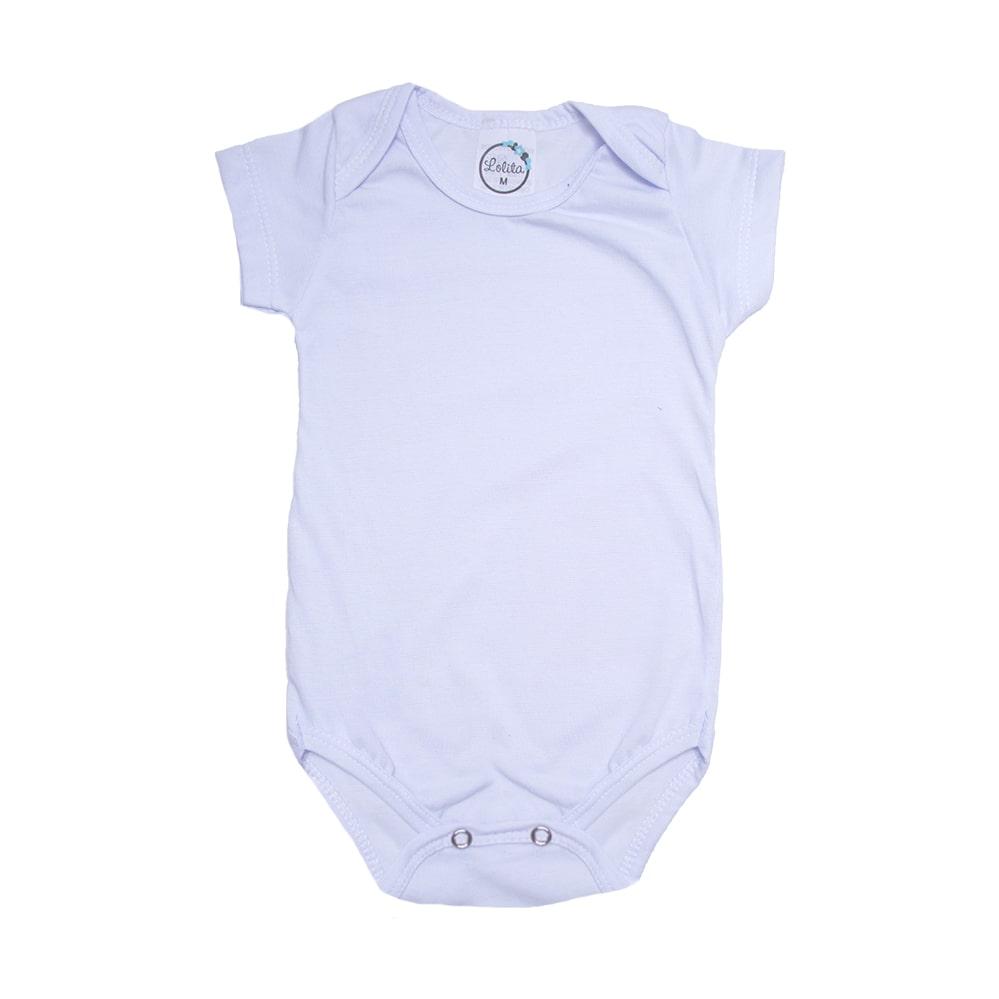 Body Bebê Liso Branco   - Jeito Infantil