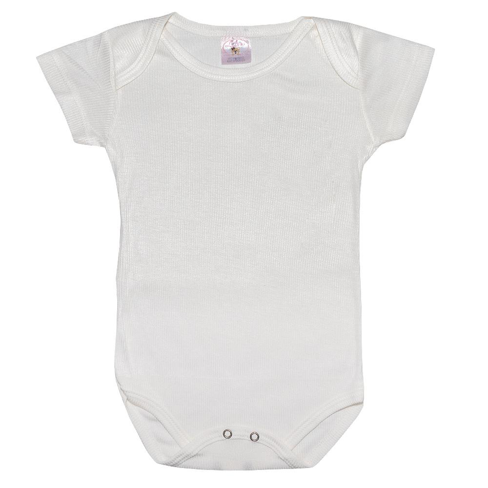 Body Bebê Liso Lolitas Pérola  - Jeito Infantil