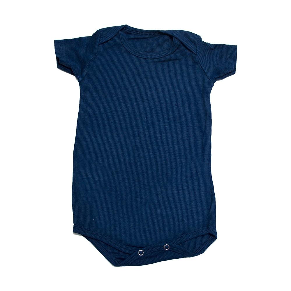 Body Bebê Marinho  - Jeito Infantil