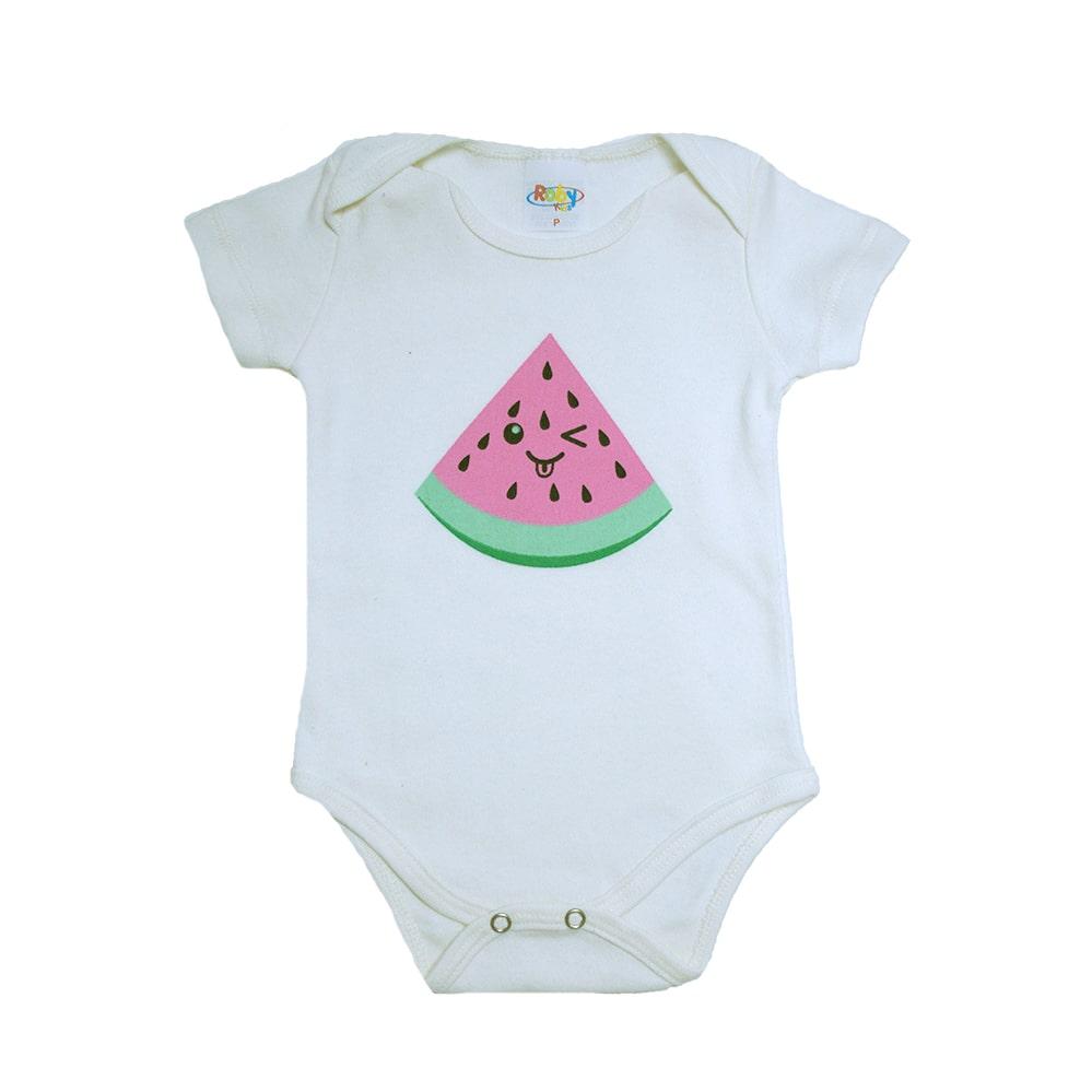 Body Bebê Melância Pérola  - Jeito Infantil