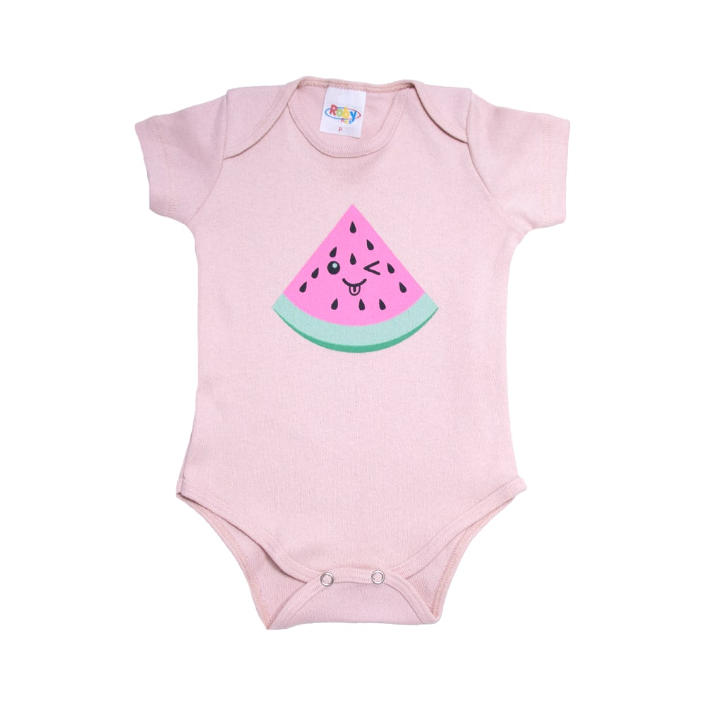 Body Bebê Melância Rose  - Jeito Infantil