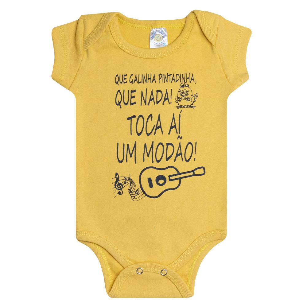 Body Bebê Modão Amarelo  - Jeito Infantil