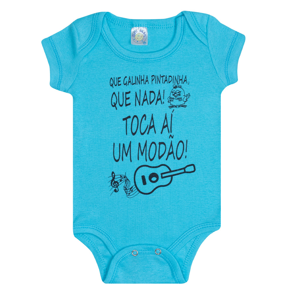 Body Bebê Modão  Azul  - Jeito Infantil