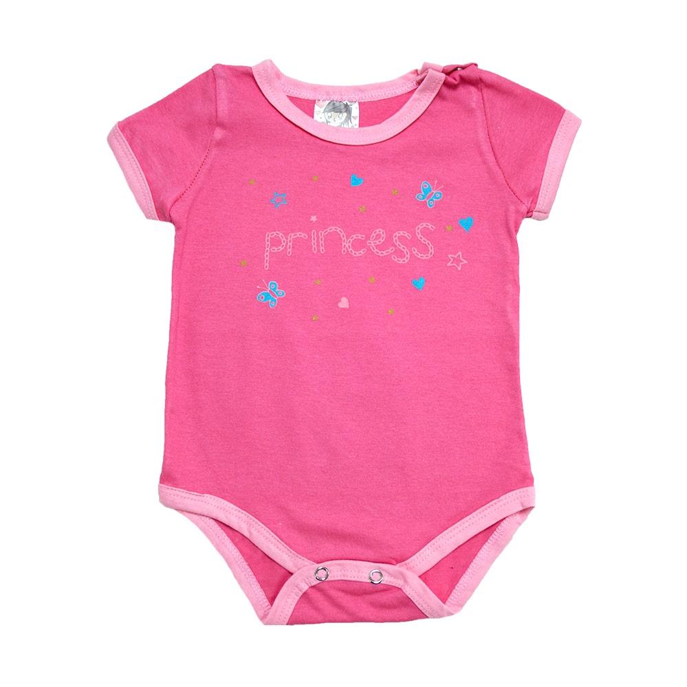 Body Bebê Princess Elô Salmão  - Jeito Infantil