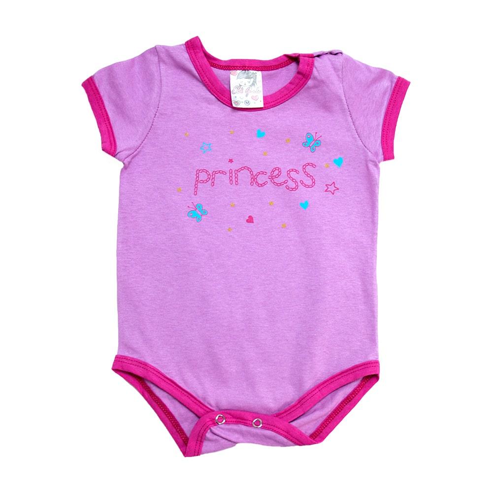Body Bebê Princess Lilás  - Jeito Infantil