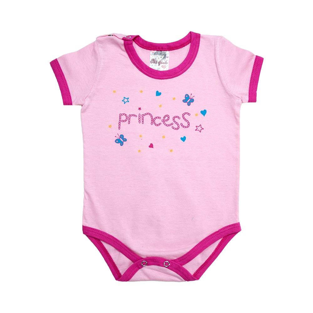 Body Bebê Princess Rosa  - Jeito Infantil