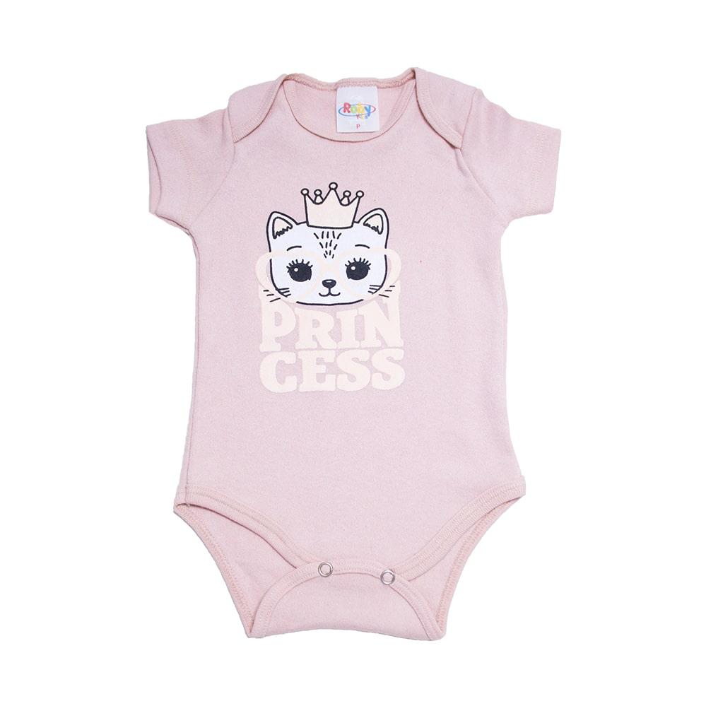 Body Bebê Princess Rose  - Jeito Infantil