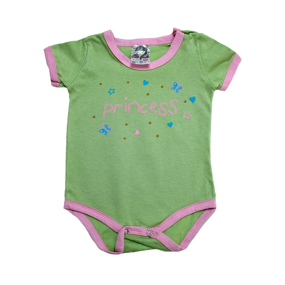 Body Bebê Princess  Verde  - Jeito Infantil