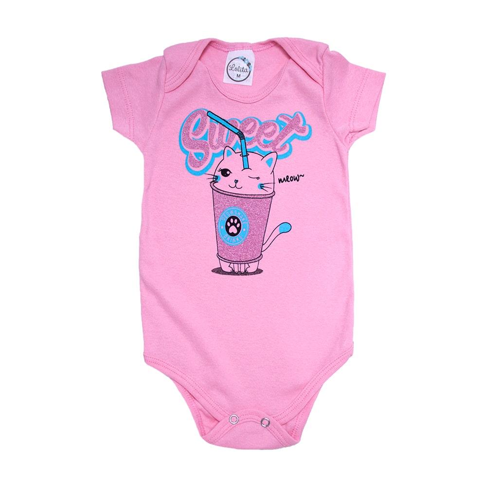 Body Bebê Sweet Rosa  - Jeito Infantil