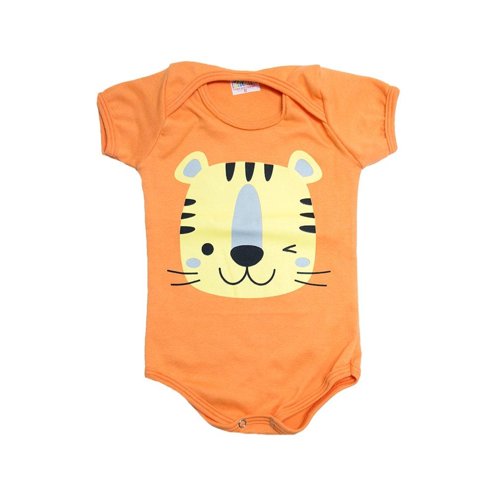 Body Bebê Tigre Laranja  - Jeito Infantil