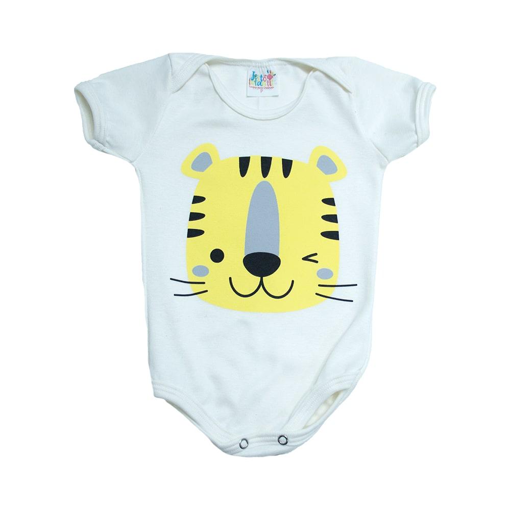 Body Bebê Tigre Pérola  - Jeito Infantil