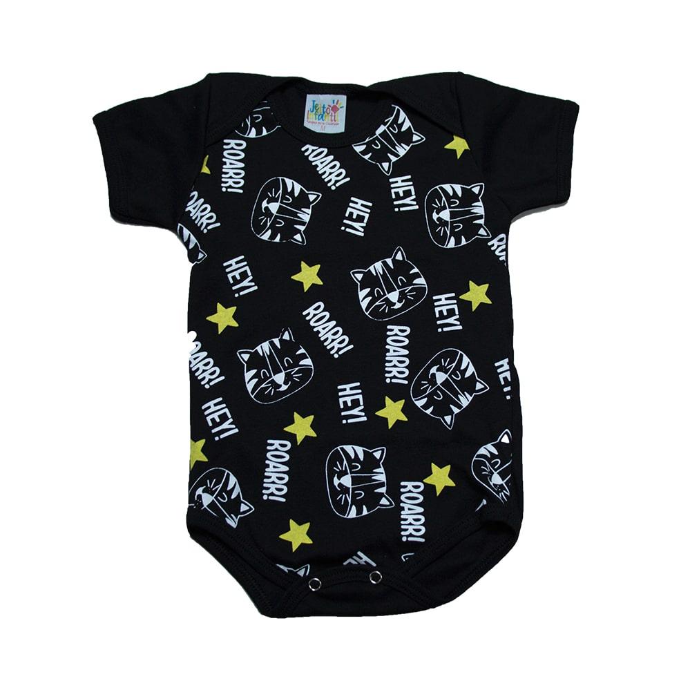Body Bebê Tigre Preto  - Jeito Infantil
