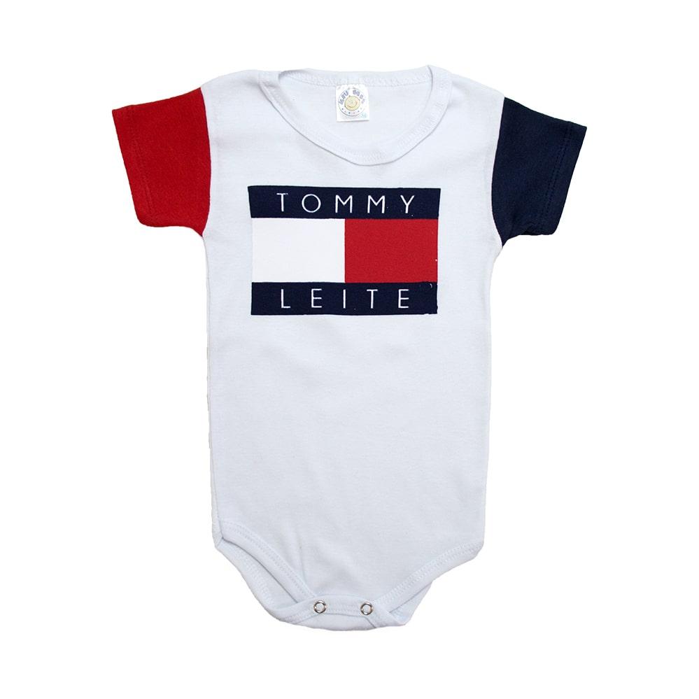 Body Bebê Tomy Leite Branco  - Jeito Infantil