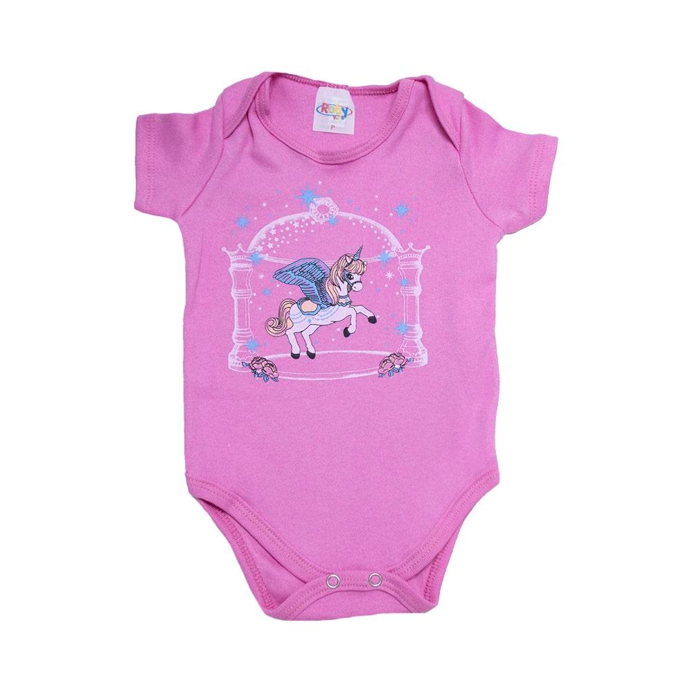 Body Bebê Unicórnio Pink  - Jeito Infantil