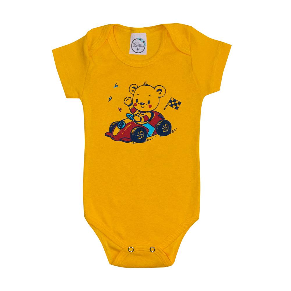 Body Bebê Ursinho Amarelo  - Jeito Infantil