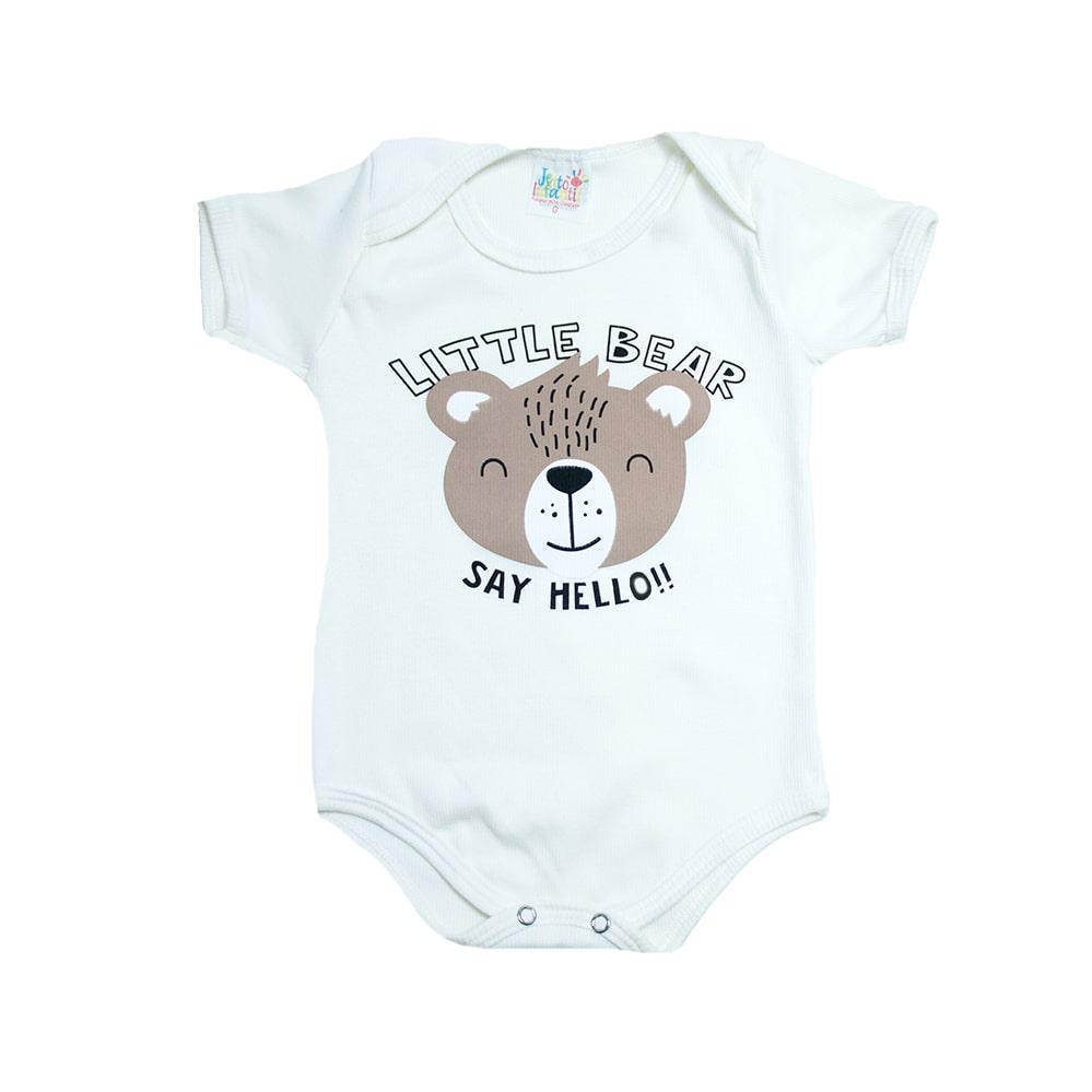 Body Bebê Ursinho Pérola  - Jeito Infantil