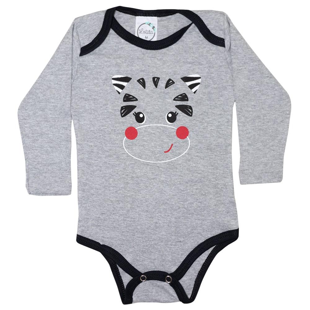 Body Bebê Vaquinha Mescla  - Jeito Infantil