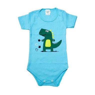 Body Infantil Dino  Azul  - Jeito Infantil