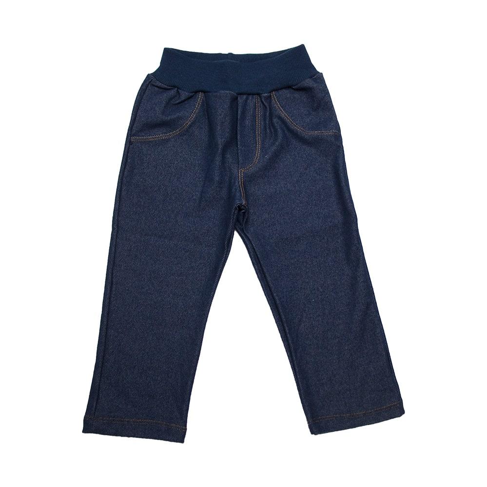 Calça Infantil Cotton Jeans Menina Marinho  - Jeito Infantil
