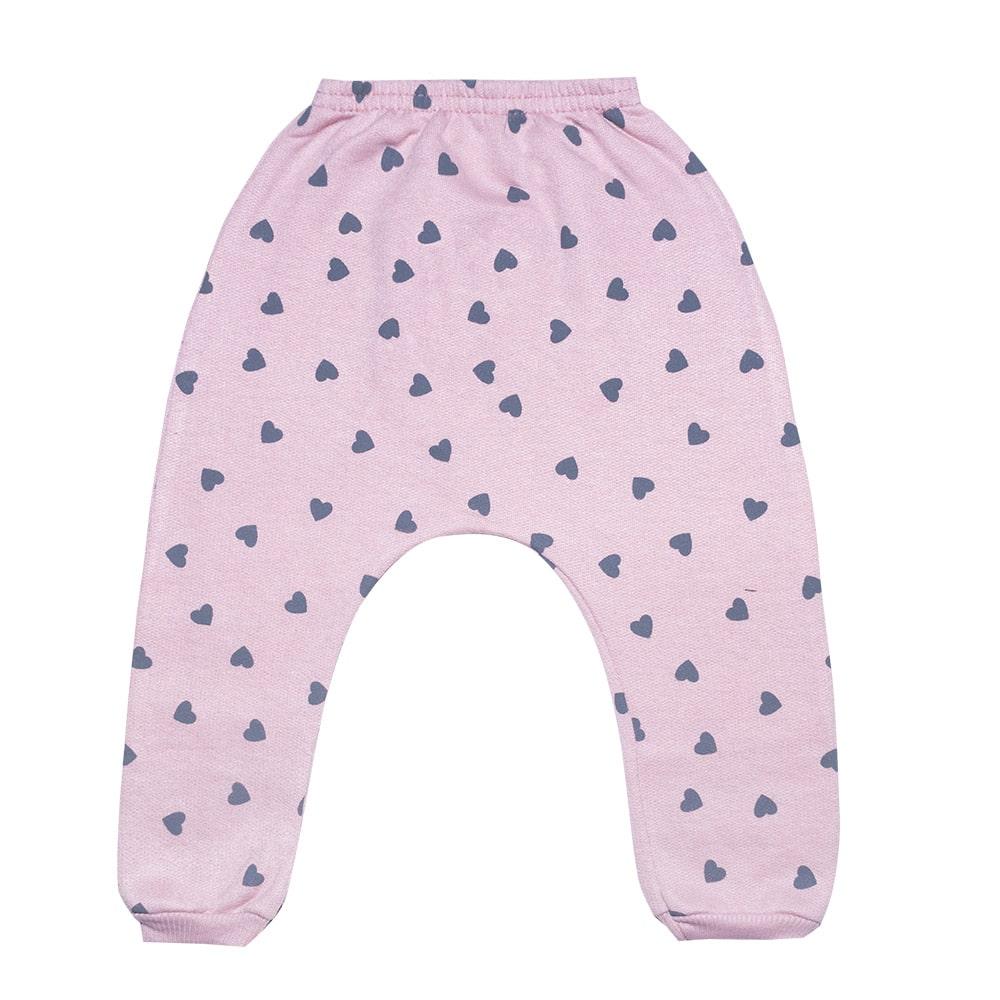 Calça Saruel Bebê Coelhinho Rosê  - Jeito Infantil