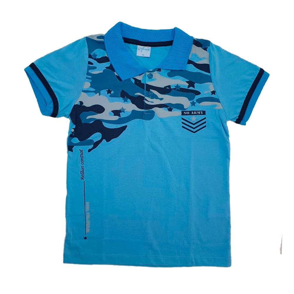 Camisa Juvenil Gola Polo Azul   - Jeito Infantil