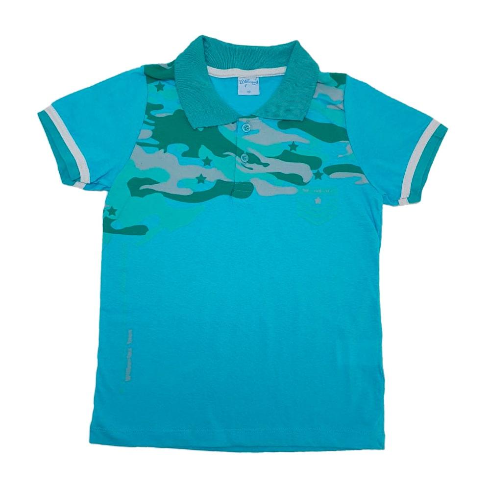 Camisa Juvenil Gola Polo Verde  - Jeito Infantil