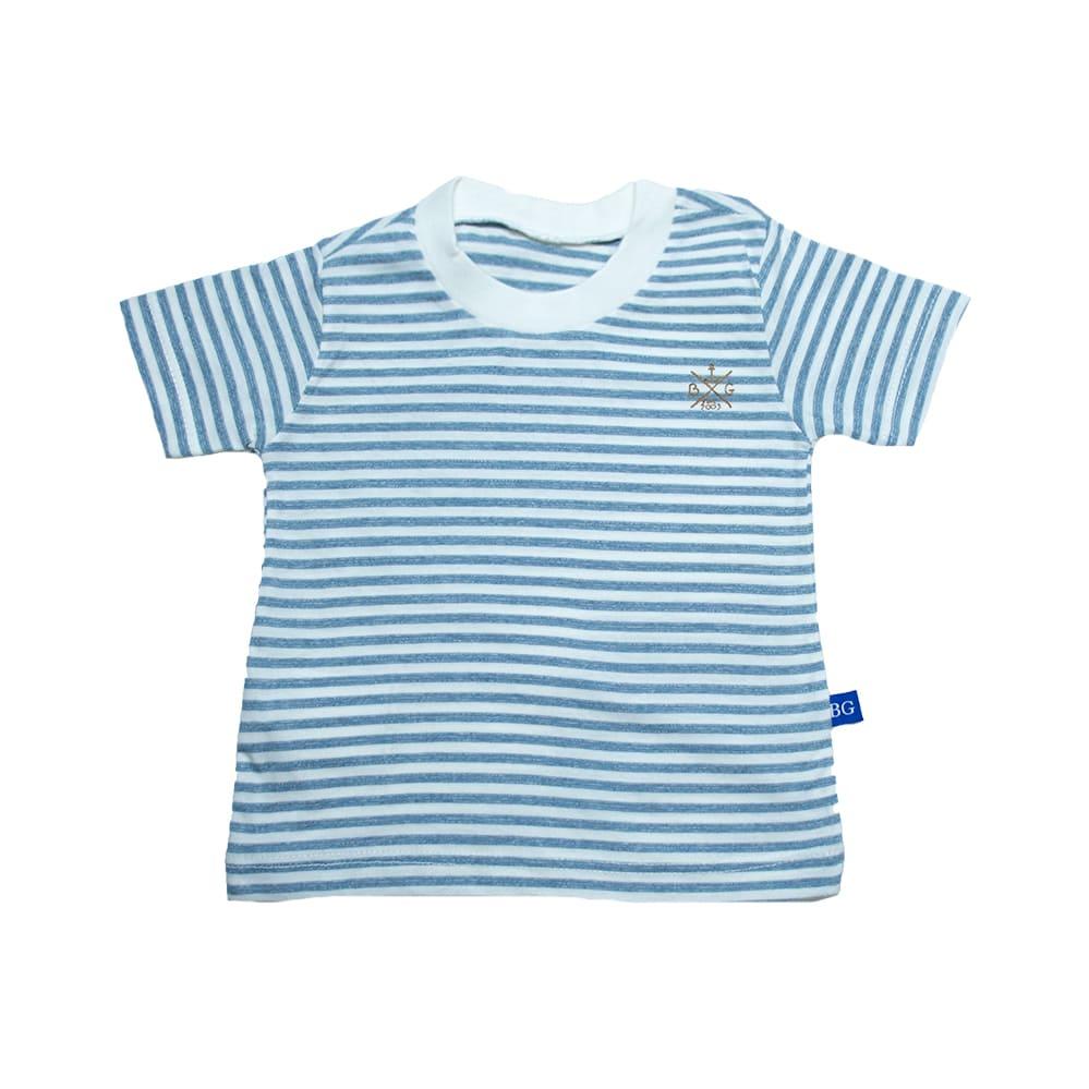 Camiseta Bebê Listras Pérola  - Jeito Infantil