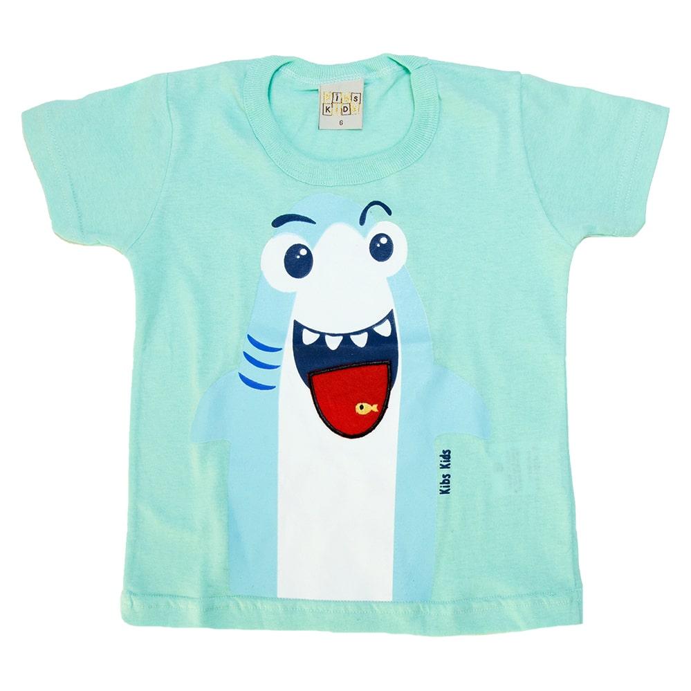 Camiseta Bebê Shark Verde  - Jeito Infantil