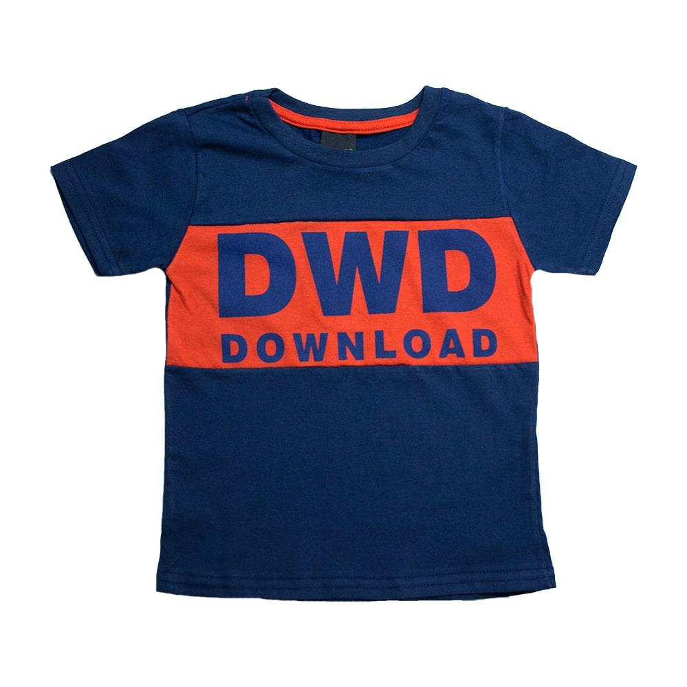 Camiseta Infantil DWD Marinho  - Jeito Infantil