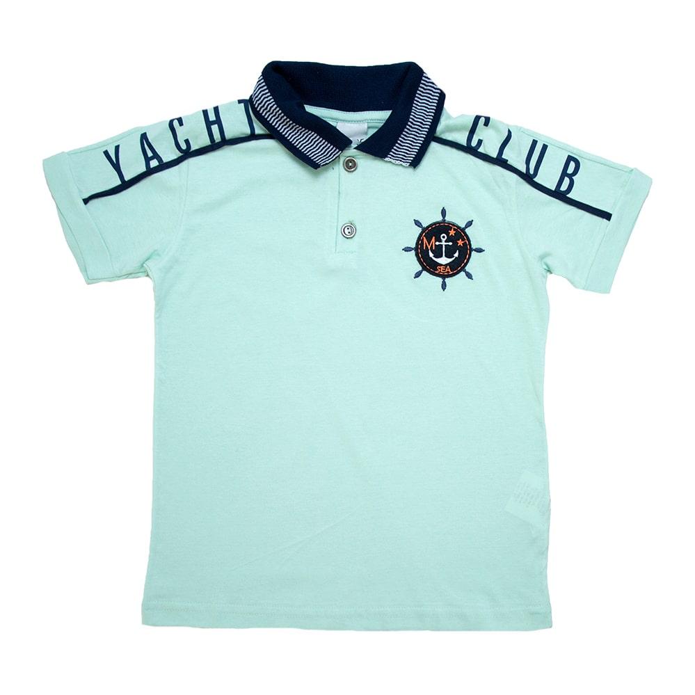Camiseta Infantil Gola Polo Club Verde  - Jeito Infantil