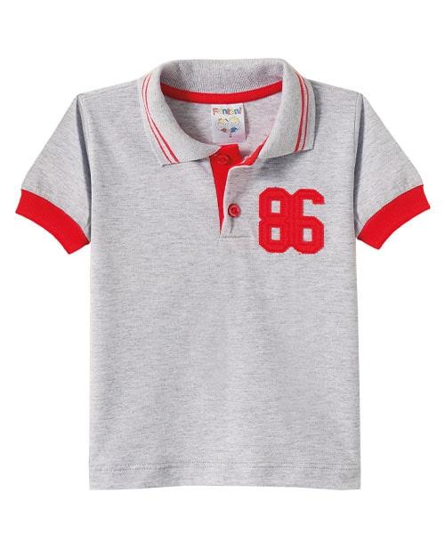 Camiseta Infantil Gola Polo Mescla  - Jeito Infantil