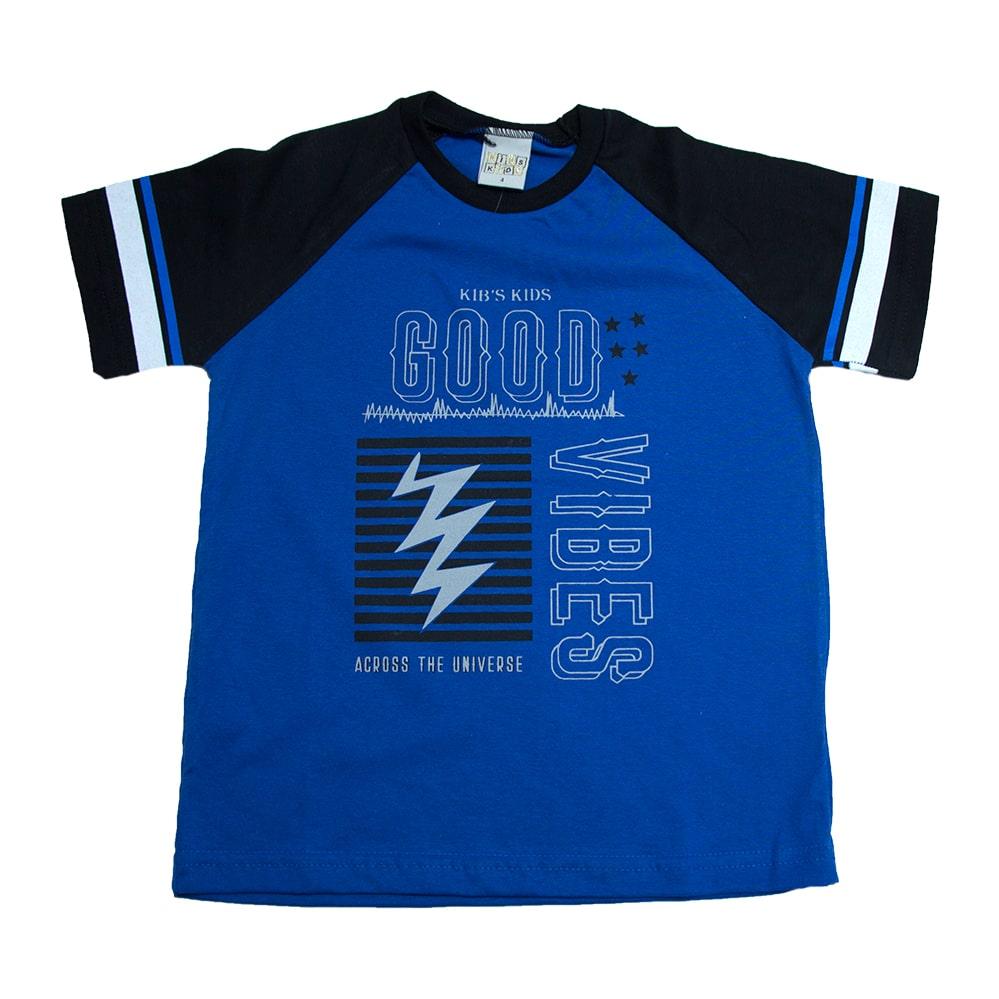 Camiseta Infantil Good Vibes Royal  - Jeito Infantil