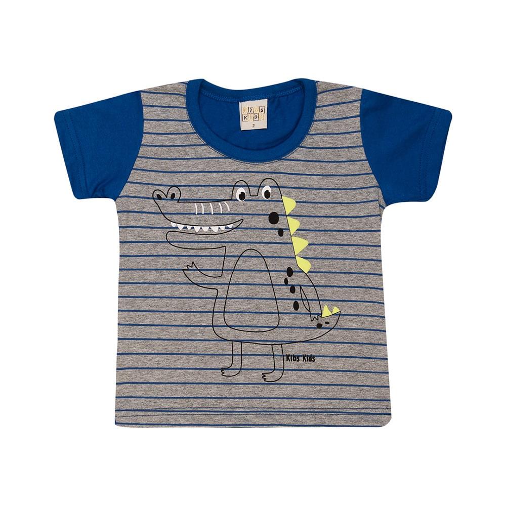 Camiseta Infantil Jacaré Royal  - Jeito Infantil
