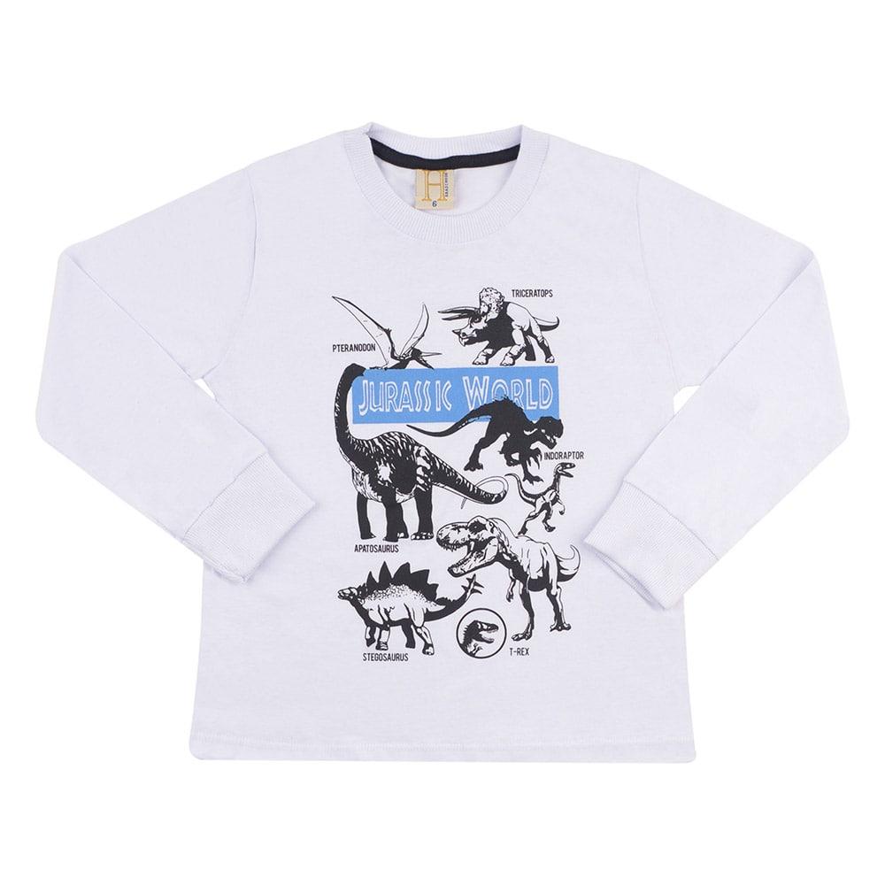Camiseta Infantil Jurassic World Branca  - Jeito Infantil