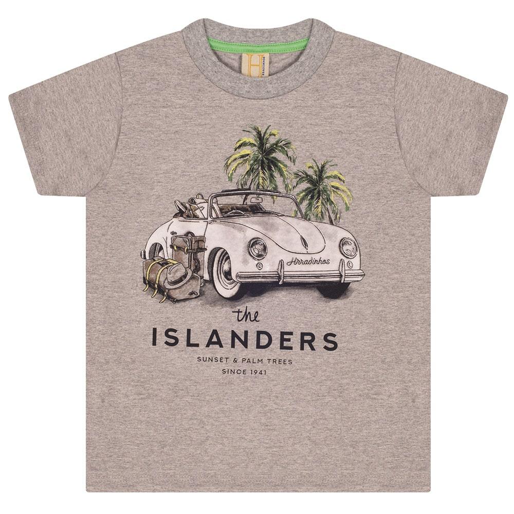Camiseta Infantil / Juvenil Fusca  Mescla  - Jeito Infantil