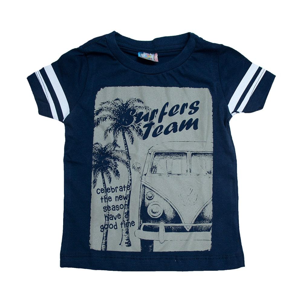 Camiseta Infantil Kombi Marinho  - Jeito Infantil