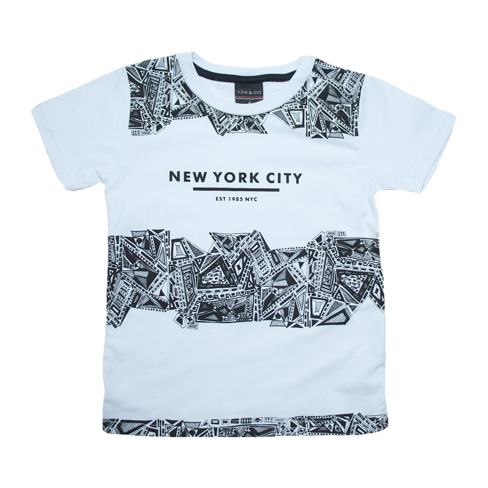 Camiseta Infantil New York City Branco  - Jeito Infantil