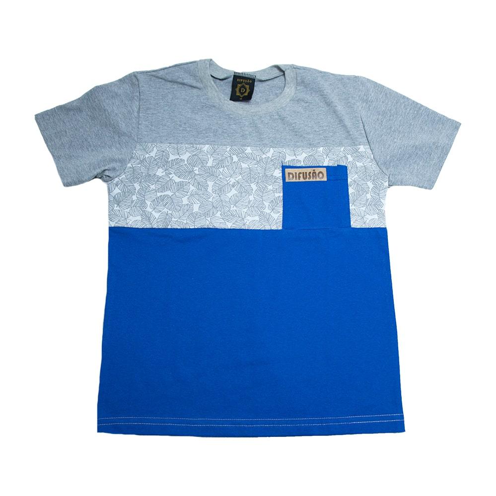 Camiseta Juvenil Folhagem Mescla  - Jeito Infantil