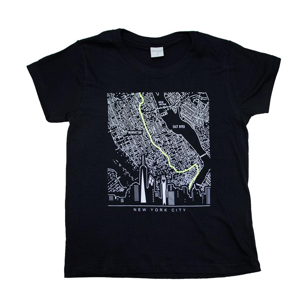 Camiseta Juvenil New York City Preto  - Jeito Infantil