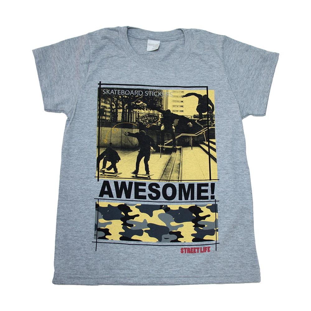 Camiseta Juvenil Skateboards Mescla  - Jeito Infantil