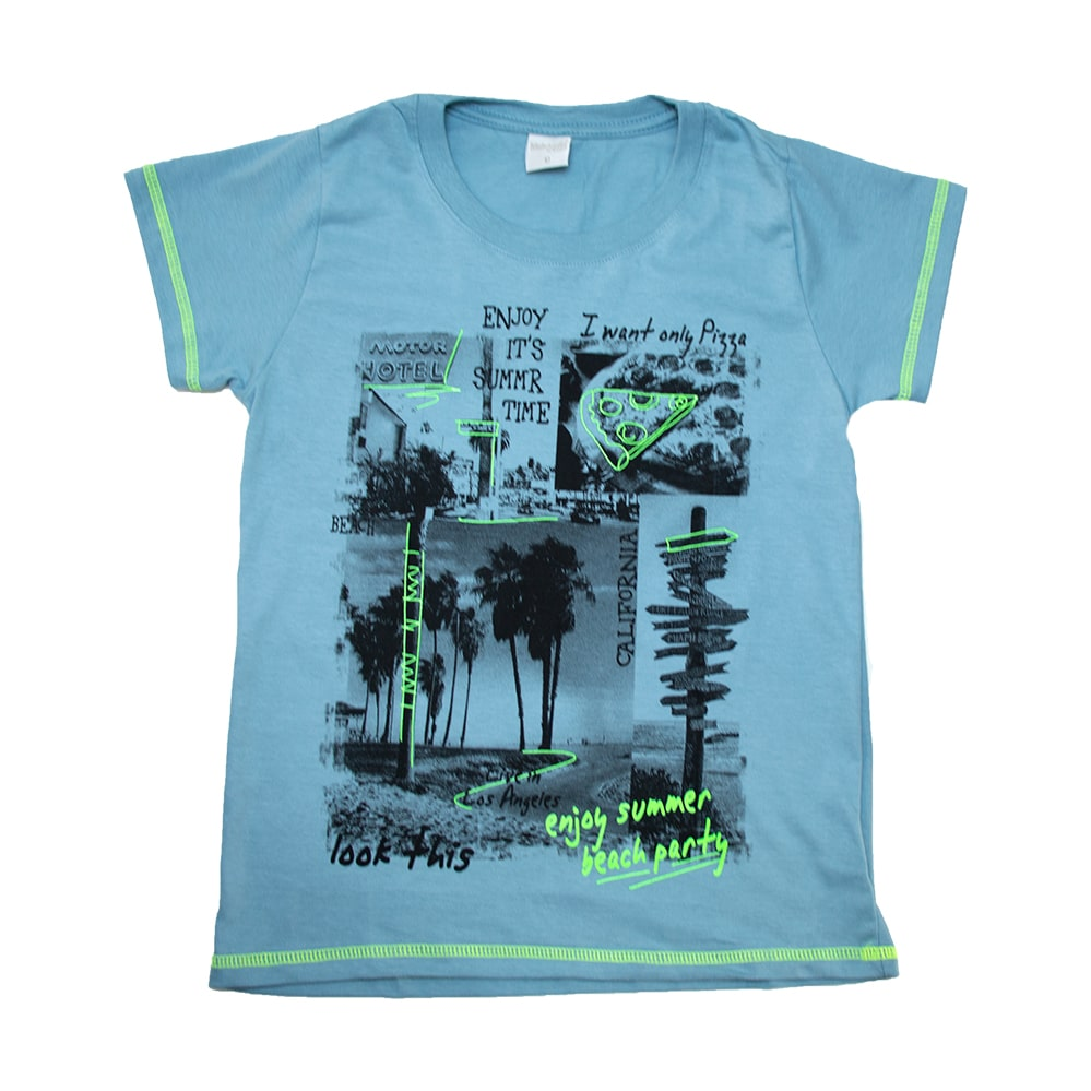 Camiseta Juvenil Summer  Azul  - Jeito Infantil