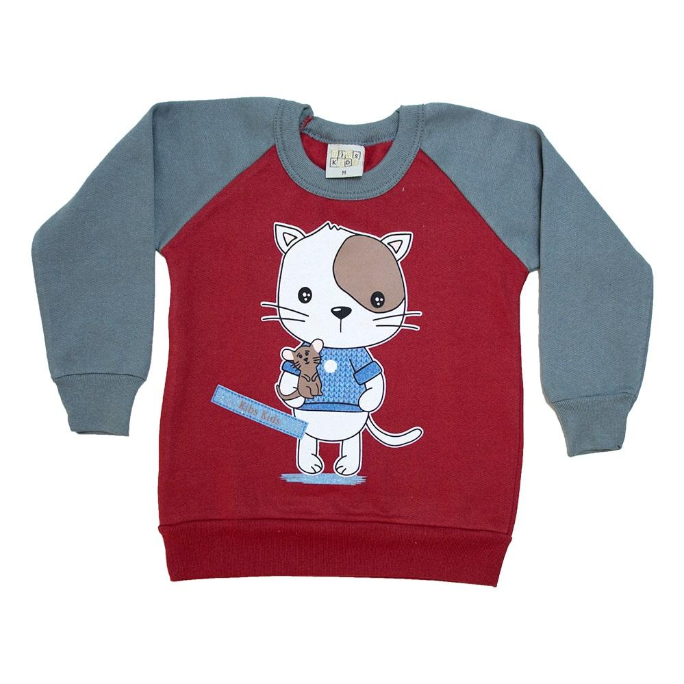 Casaco Bebê Cat Vermelho  - Jeito Infantil