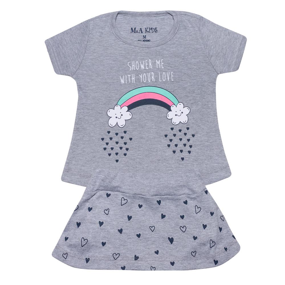 Conjunto Bebê Arco - Íris Mescla  - Jeito Infantil