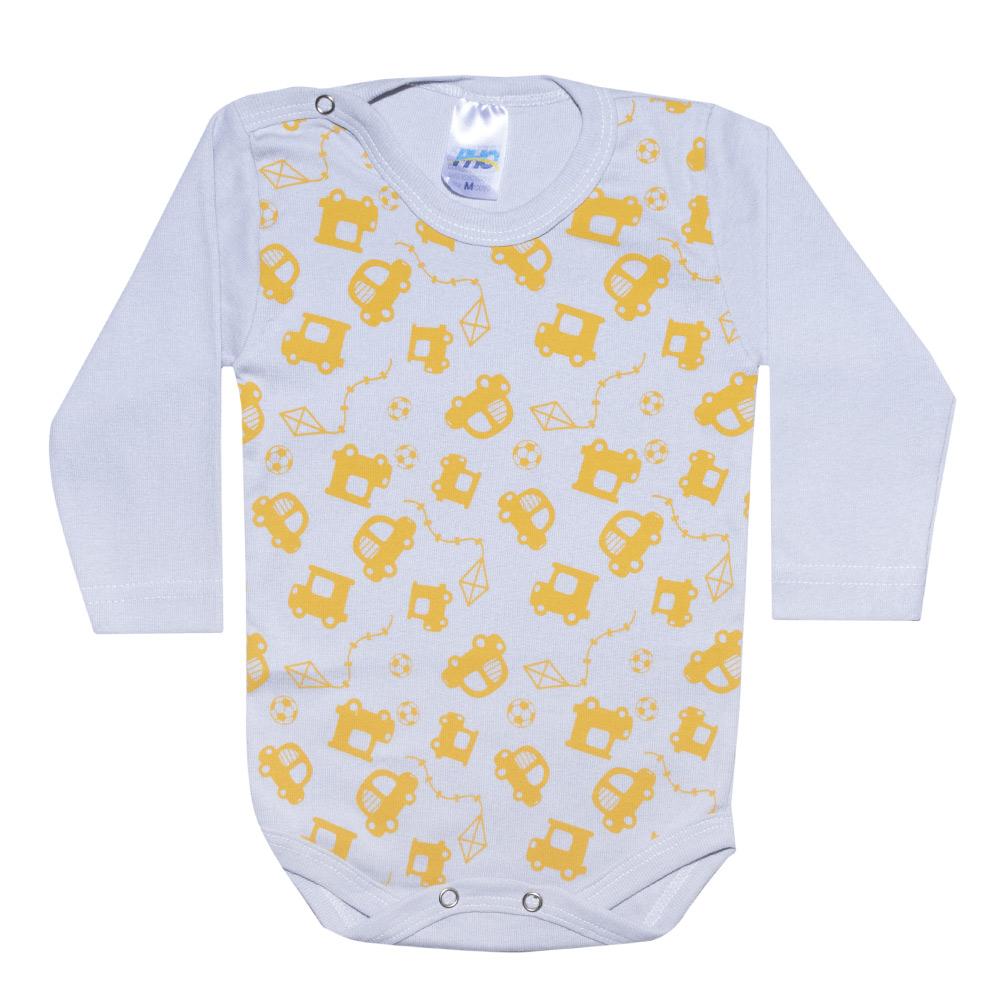 Conjunto Bebê Body Carrinhos Cinza  - Jeito Infantil
