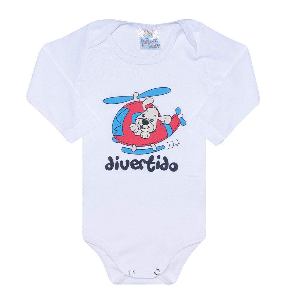 Conjunto Bebê Body Divertido Branco  - Jeito Infantil